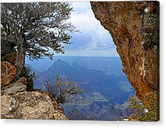 Grand Canyon North Rim Window In The Rock Acrylic Print