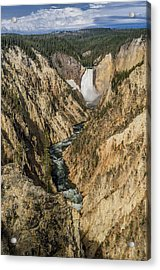 Grand Canyon Of The Yellowstone And Yellowstone Falls Acrylic Print