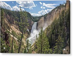 Grand Canyon Of Yellowstone Acrylic Print by Alpha Wanderlust