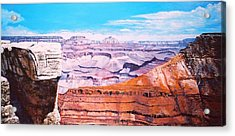 Acrylic Print featuring the painting Grand Canyon Scene by M Diane Bonaparte