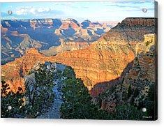 Grand Canyon South Rim At Sunset Acrylic Print