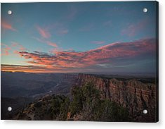Acrylic Print featuring the photograph Grand Canyon Sunset 1943 by David Haskett