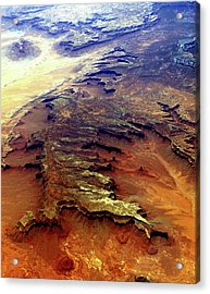 Acrylic Print featuring the relief Grand Canyon01 From 6mi Up by Irma BACKELANT GALLERIES