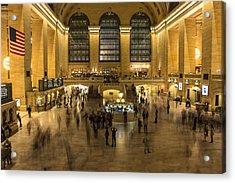 Grand Central Station Acrylic Print by Martin Newman