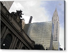 Grand Central And The Chrysler Building Acrylic Print