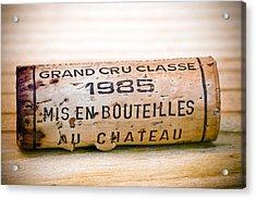 Grand Cru Classe Bordeaux Wine Cork Acrylic Print by Frank Tschakert