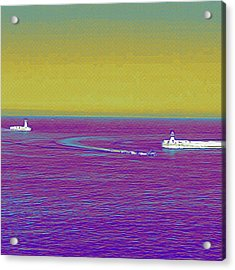 Purple Sea Acrylic Print