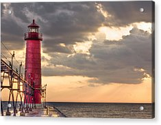 Grand Haven Lighthouse Hdr Acrylic Print by Jeramie Curtice