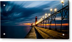 Grand Haven Lighthouse Acrylic Print by Larry Carr