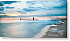 Grand Haven Pier - Smooth Waters Acrylic Print by Larry Carr