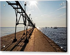Acrylic Print featuring the photograph Grand Haven Pier by Lars Lentz