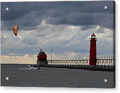 Grand Haven Wind Surfing Acrylic Print