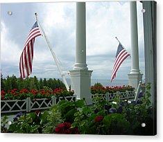 Grand Hotel Flags Acrylic Print