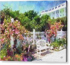 Grand Hotel Gardens Mackinac Island Michigan Acrylic Print
