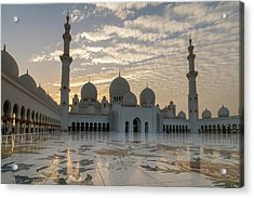 Grand Mosque Sunset Acrylic Print