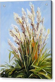 Grand Pampas Acrylic Print by Cheryl Pass