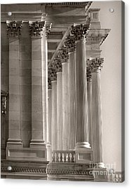 Grand Pillars At Dawn Acrylic Print by Jennifer Apffel