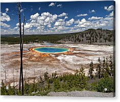 Acrylic Print featuring the photograph Grand Prismatic by John Gilbert