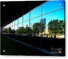 Grand Rapids Mi On Glass-12 Acrylic Print by Robert Pearson