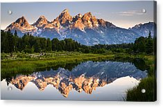 Acrylic Print featuring the photograph Grand Teton Awakening by Dan Mihai