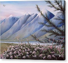 Grand Teton Mountains Acrylic Print by Allan Carey