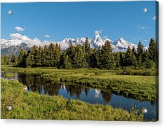 Grand Teton Reflection Acrylic Print by Brian Harig