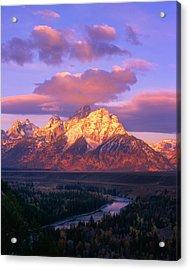 Grand Teton Sunrise Acrylic Print