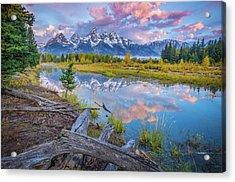Grand Teton Sunrise Reflection Acrylic Print