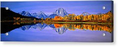 Grand Tetons And Reflection In Grand Acrylic Print