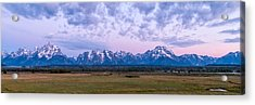 Grand Tetons Before Sunrise Panorama - Grand Teton National Park Wyoming Acrylic Print