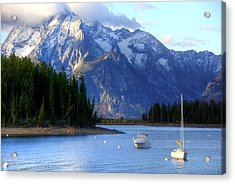 Grand Tetons Acrylic Print by Charlotte Schafer