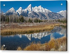 Acrylic Print featuring the photograph Grand Tetons by Gary Lengyel