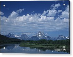 Grand Tetons In Spring Acrylic Print by Stan and Anne Foster