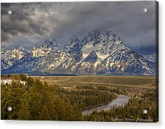 Grand Tetons Snake River Acrylic Print by Charles Warren