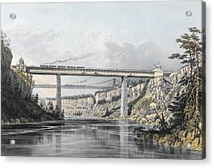 Grand Trunk Railway Of Canada  The Victoria Bridge Acrylic Print by S Russell