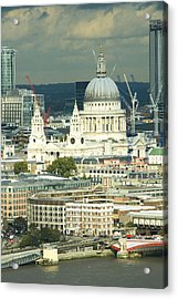 Grand View Of Central London Acrylic Print by Charles  Ridgway