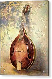 Grandaddy's Mandolin Acrylic Print by Andrew King