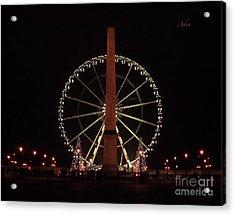 Grande Roue De Paris Night Acrylic Print