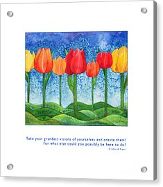 Acrylic Print featuring the painting Grandest Visions by Kristen Fox