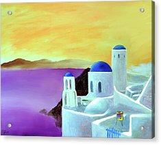 Grandeur Of Greece Acrylic Print by Larry Cirigliano