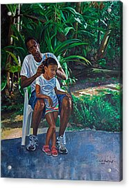 Grandfather And Child Acrylic Print