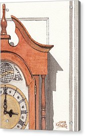 Grandfather Clock Acrylic Print by Ken Powers