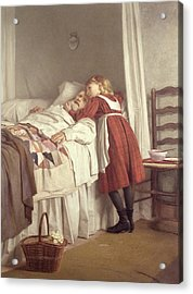 Grandfathers Little Nurse Acrylic Print by James Hayllar