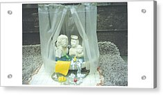 Grandkids In The Tub Acrylic Print by Doris Lindsey