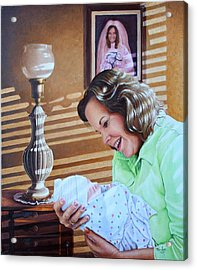 Grandma And Granddaughter Acrylic Print