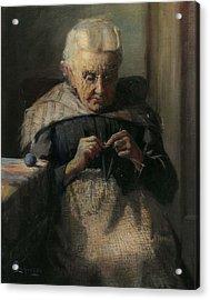 Grandma Acrylic Print by Lewis A Ramsey