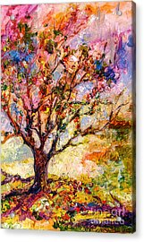 Grandmas Apple Tree Oil Painting Acrylic Print by Ginette Callaway