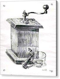 Grandma's Coffee Grinder Acrylic Print by Dale Turner