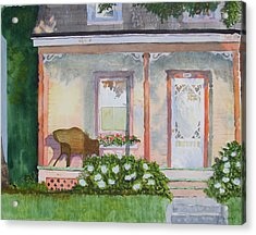 Grandma's Front Porch Acrylic Print by Ally Benbrook