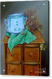 Grandma's Sewing Chest Acrylic Print by Patricia Lang